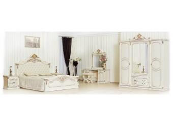Спальня Меланж (крем) 4-х дверный шкаф