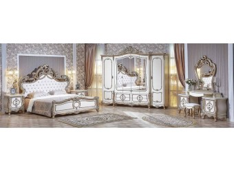 Спальня Орнелла (крем,шампань) 5-ти дверный шкаф