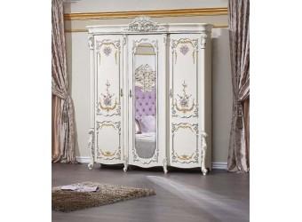 Спальня Венеция Классик (крем) 3-х дверный шкаф