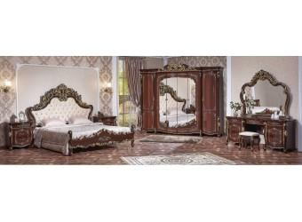 Спальня Венеция (темный орех) 6-х дверный шкаф