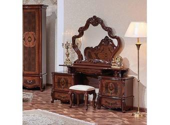 Туалетный столик с зеркалом Виктория (орех фарина)