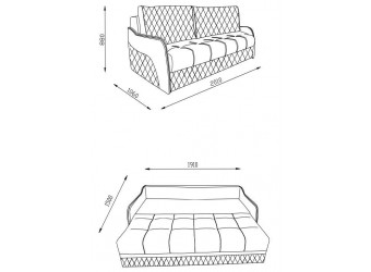Трехместный диван-кровать Орион ORION-02