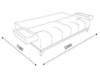 Трехместный диван-кровать SMART-02 (Смарт)