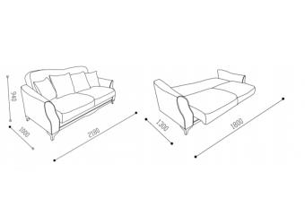 Трехместный диван-кровать VALDES (Валдес) VLDS-02