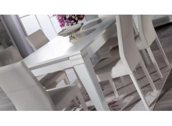 Раскладной обеденный стол для гостиной Мира MIRA-04 белый