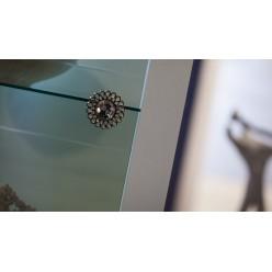 Одностворчатый шкаф витрина для посуды с подсветкой в гостиную Седеф SEDF-12