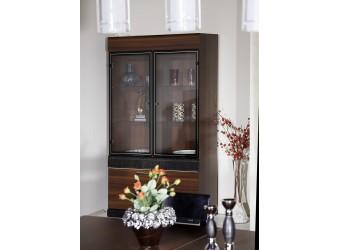 Двухстворчатый шкаф витрина для посуды Вера VERA-01