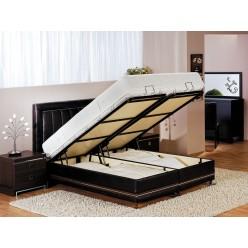 Двуспальная кровать с подъемным механизмом и мягким изголовьем Актив ACTIVE