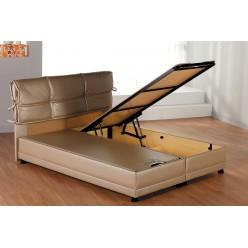 Двуспальная кровать с подъемным механизмом и мягким изголовьем Селен SELEN