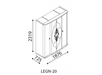 Четырехстворчатый шкаф Легенда венге LEGN-20