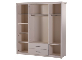 Четырехстворчатый шкаф Мира MIRA-20 белый