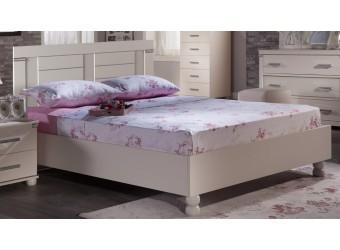 Двуспальная кровать Мира MIRA-26 белая