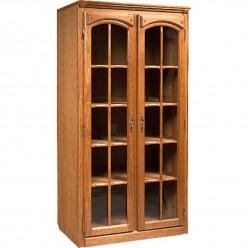 Шкаф-витрина двухдверная Элбург БМ-1442 (дуб рустикаль)