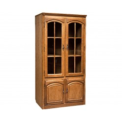 Шкаф-витрина двухдверная Элбург БМ-1443 (дуб рустикаль)