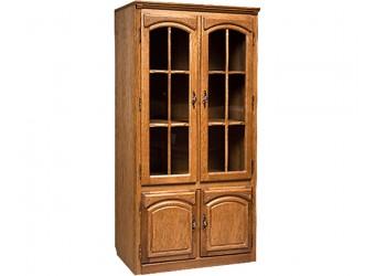 Шкаф-витрина двухдверная Элбург БМ-1443 (натуральный дуб)