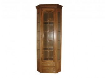Угловой шкаф-витрина Элбург БМ-1394 (дуб рустикаль)