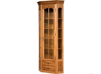 Угловой шкаф-витрина Элбург БМ-1394-03 (дуб рустикаль)