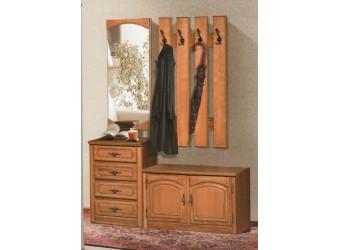 Настенное зеркало Элбург (натуральный дуб)