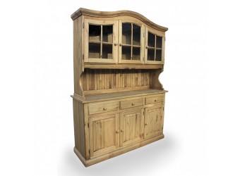 Настенный шкаф-витрина Лотос сосна Б-1077-01 (искусственное старение)