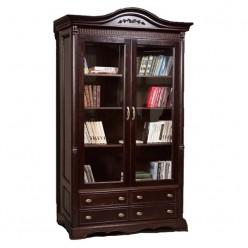 Книжный шкаф-витрина Паола БМ-2151 (горячий шоколад)