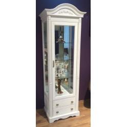 Шкаф-витрина однодверная Паола БМ-2102 (розовый пепел)