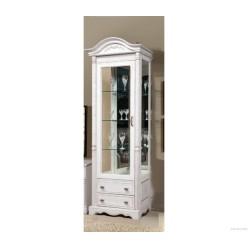 Шкаф-витрина Паола правая БМ-2380-01 (розовый пепел)