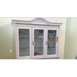 Шкаф-витрина трехдверная Паола БМ-2106 (розовый пепел)