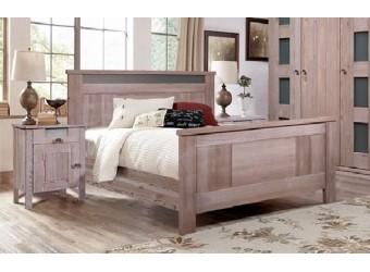 Двуспальная кровать Доминика БМ-2089 (серо-бежевый) 1600 мм