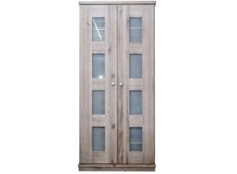 Двухдверный шкаф для одежды Доминика (серо-бежевый)