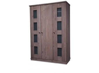 Трехдверный шкаф для одежды Доминика (серо-бежевый)