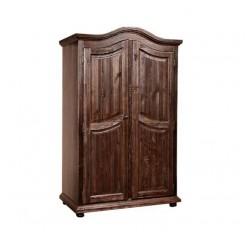 Двухстворчатый шкаф для одежды Лотос сосна (брашированный мокко)