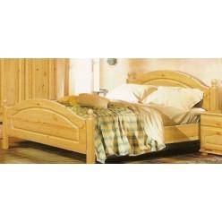 Двуспальная кровать Лотос сосна Б-1090-05 (натуральная сосна) 1400 мм