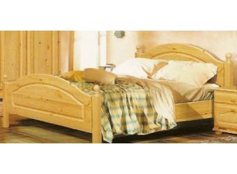 Двуспальная кровать Лотос сосна Б-1090-11 (лак без крашения) 1600 мм