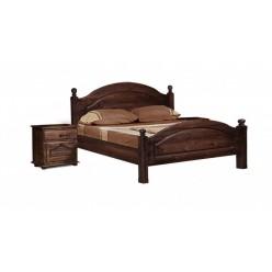 Двуспальная кровать Лотос сосна Б-1090-05BRU (брашированный мокко) 1400 мм
