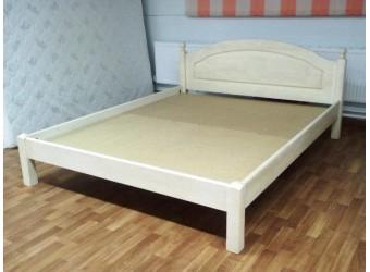 Двуспальная кровать Лотос сосна Б-1090-08BRU (белый воск) 1400 мм