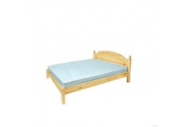 Двуспальная кровать Лотос сосна Б-1090-08 (лак без крашения) 1400 мм