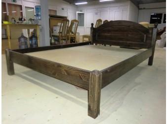 Двуспальная кровать Лотос сосна Б-1090-08BRU (брашированный мокко) 1400 мм