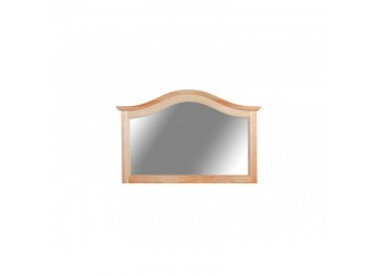 Настенное зеркало Лотос сосна (белый воск)