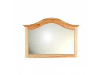 Настенное зеркало Лотос сосна (лак без крашения)