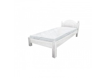 Односпальная кровать Лотос сосна Б-1089-08BRU (белый воск)