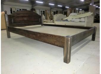 Односпальная кровать Лотос сосна Б-1089-08BRU (мокко)