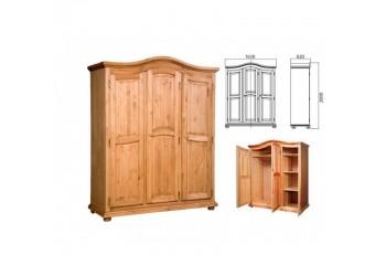 Трехстворчатый шкаф для одежды Лотос сосна (искусственное старение)