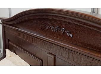 Двуспальная кровать Паола БМ-2167 (горячий шоколад) 1600 мм