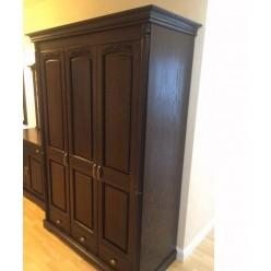 Трехстворчатый шкаф для одежды Паола БМ-2165 (горячий шоколад)
