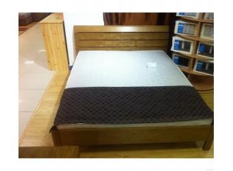 Двуспальная кровать Лайма БМ-1601 (натуральный дуб)