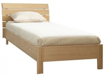 """Односпальная кровать 1-09 """"Лайма 1749"""" БМ661,с решетчатой спинкой (дуб разбеленный)"""