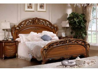 Двуспальная кровать Аллегро (орех)