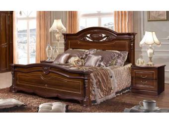 Двуспальная кровать Сорренто (орех)
