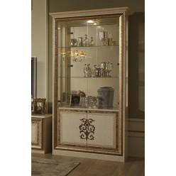 Шкаф-витрина двухдверный Анита (бежевый глянец)