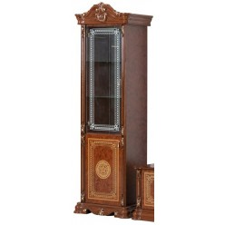 Шкаф-витрина Грация однодверный правый (орех глянец)